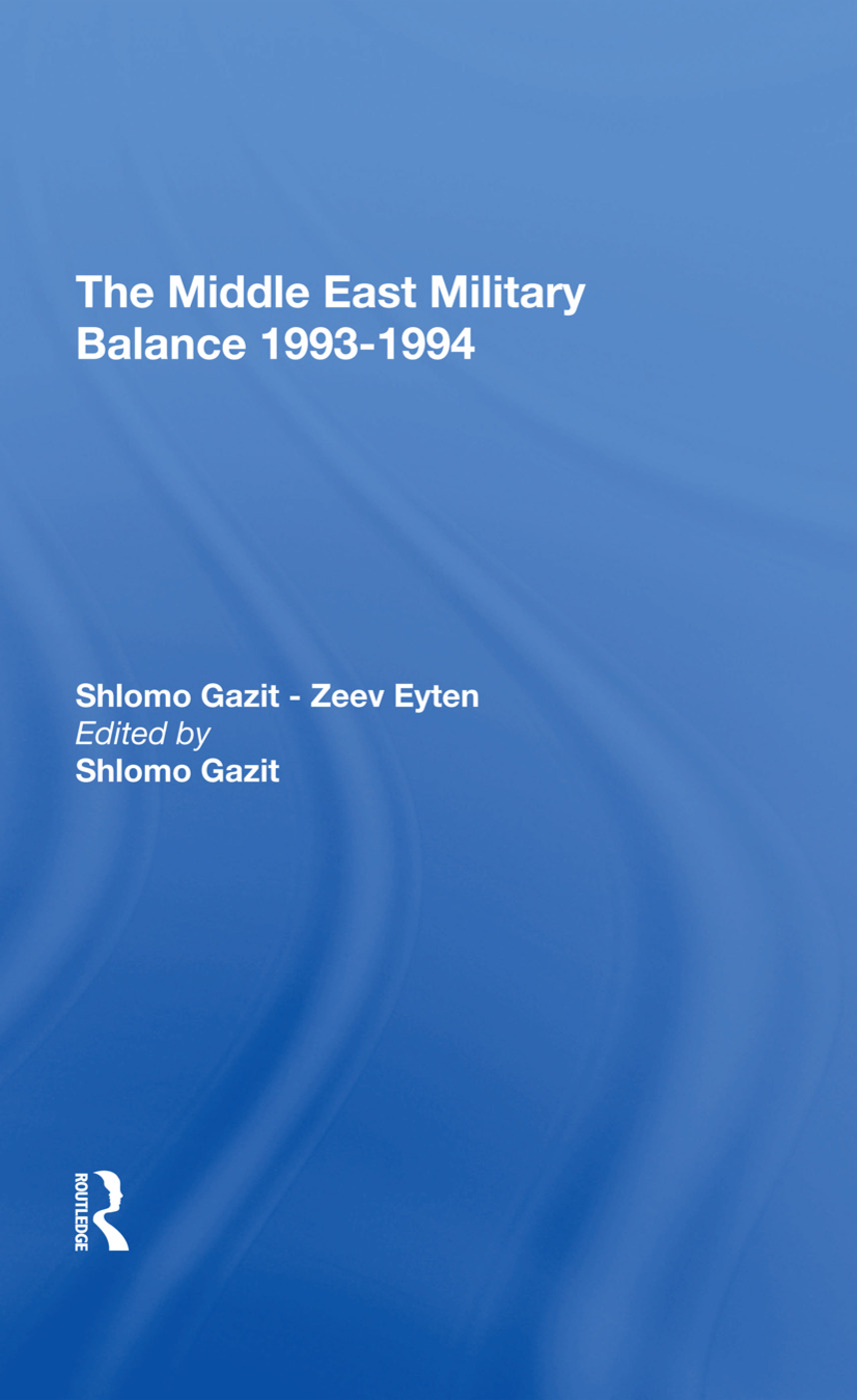 The Middle East Military Balance 19931994: 1st Edition (Hardback) book cover