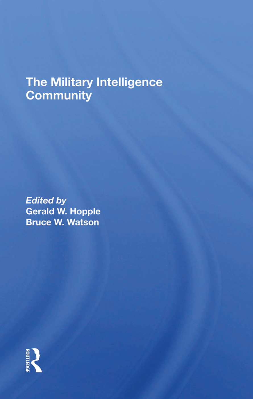 The Military Intelligence Community: 1st Edition (Hardback) book cover