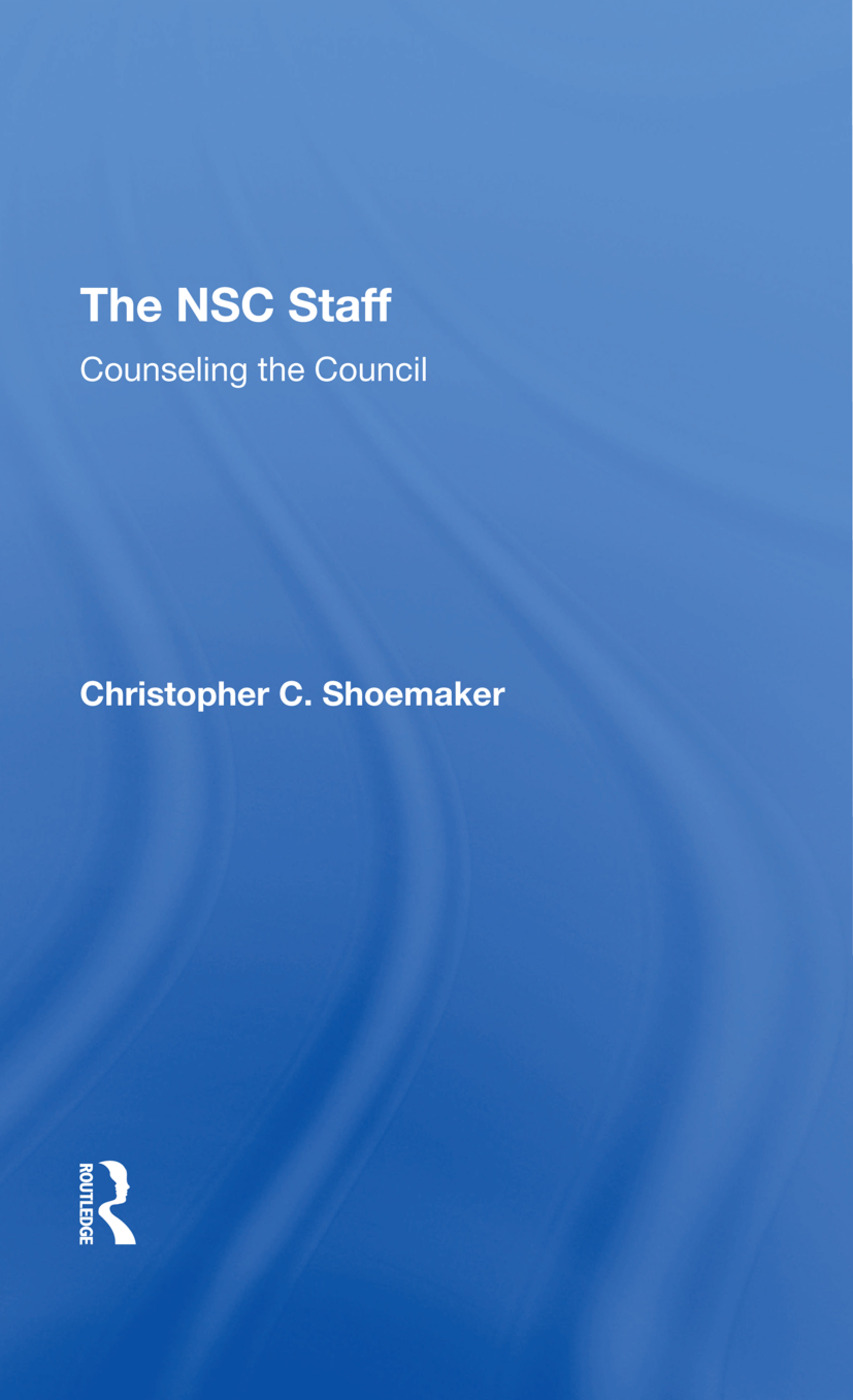 The Nsc Staff: Counseling The Council, 1st Edition (Hardback) book cover