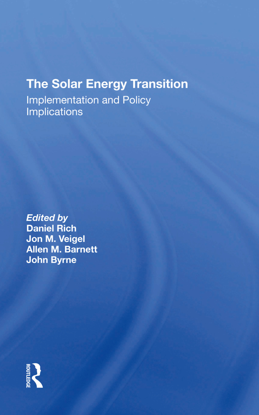 The Solar Energy Transition: Implementation And Policy Implications book cover