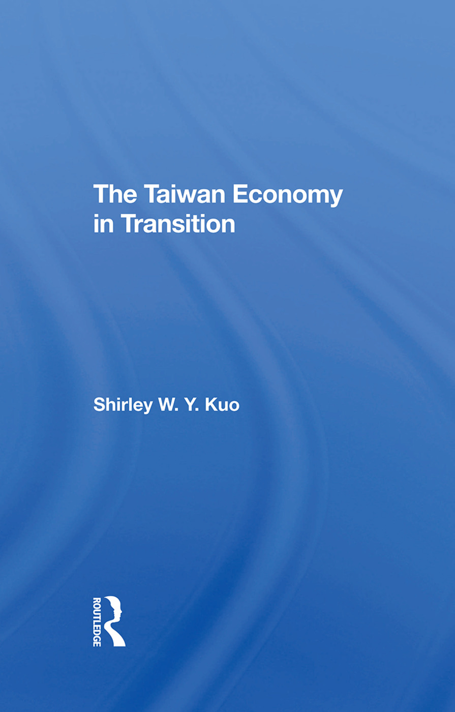 The Taiwan Economy In Transition: 1st Edition (Hardback) book cover