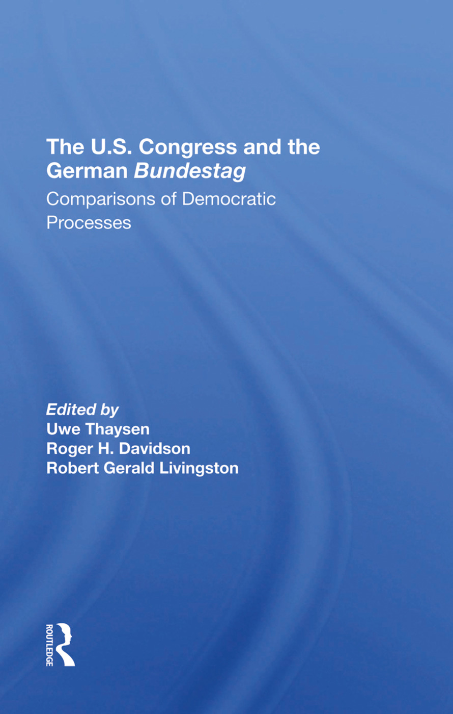 The U.s. Congress And The German Bundestag: Comparisons Of Democratic Processes book cover