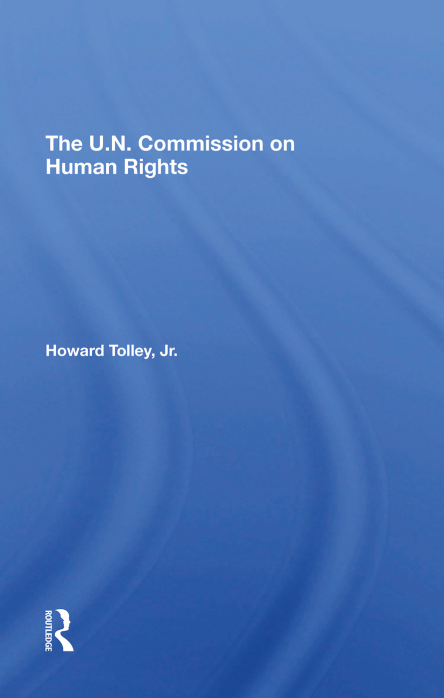 The Un Commission On Human Rights book cover