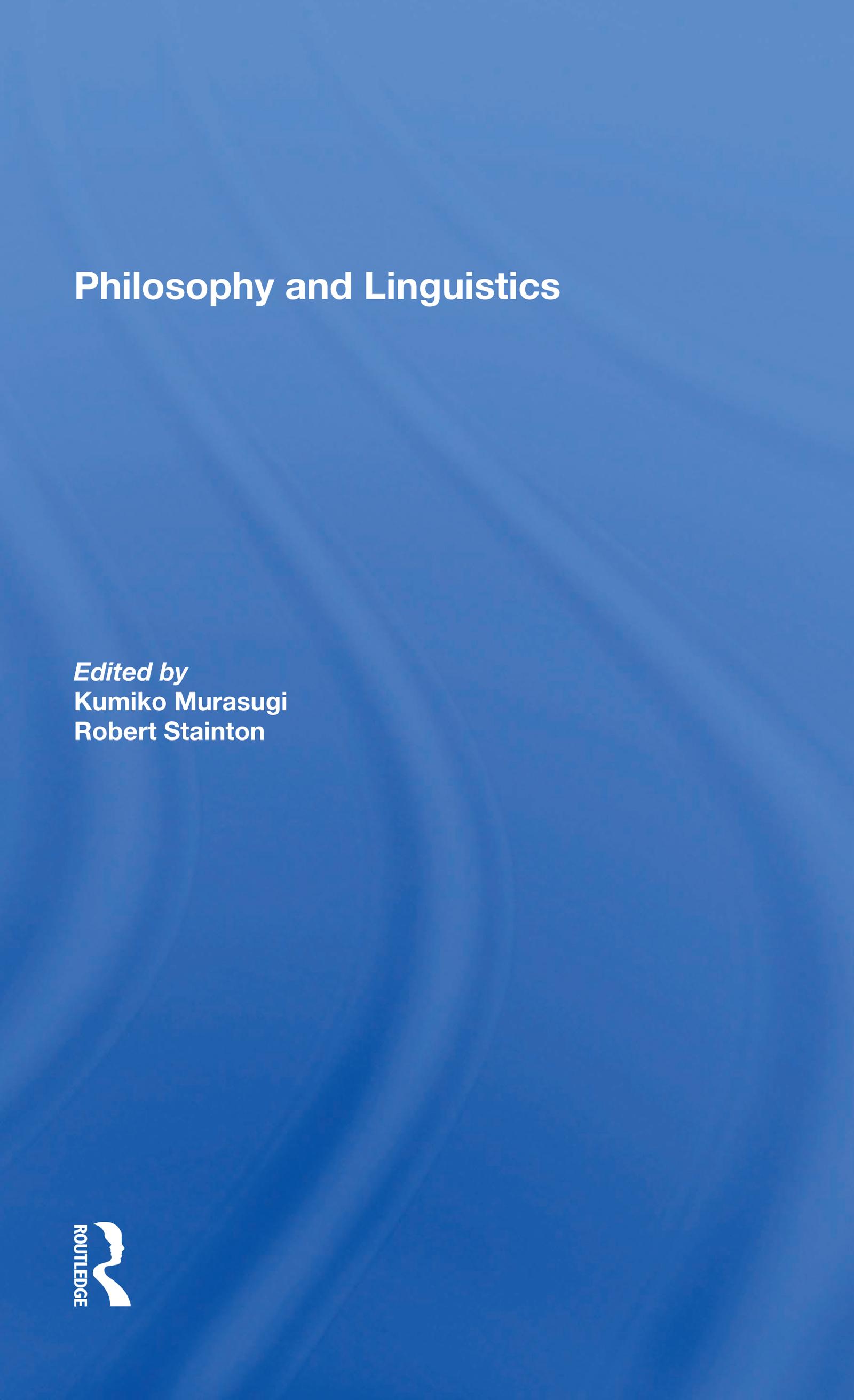 Philosophy and Linguistics