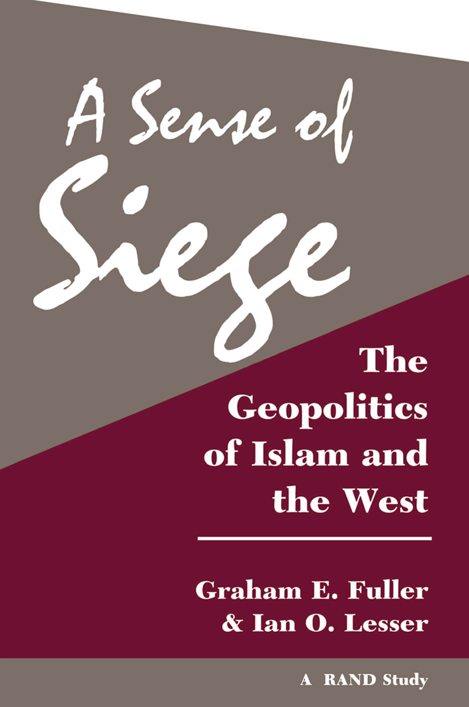 A Sense Of Siege: The Geopolitics Of Islam And The West, 1st Edition (Hardback) book cover