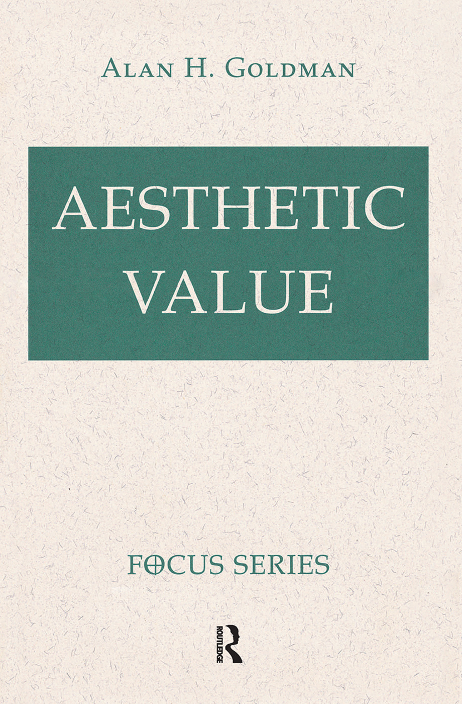 Aesthetic Value: 1st Edition (Hardback) book cover
