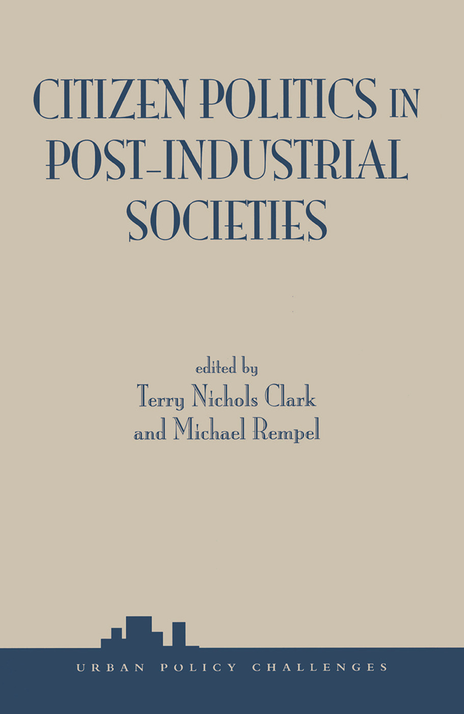Citizen Politics In Post-industrial Societies book cover