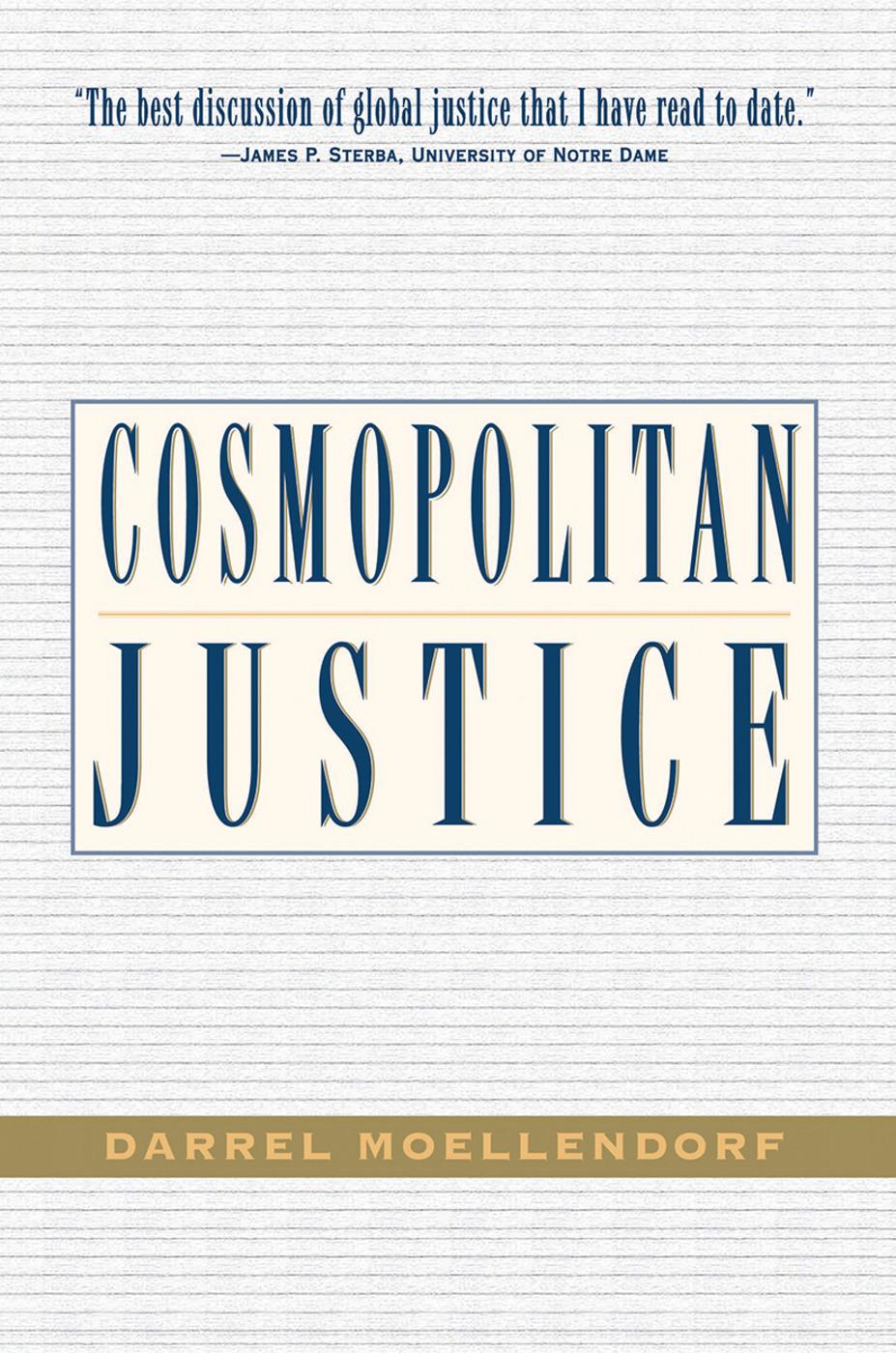 Cosmopolitan Justice: 1st Edition (Hardback) book cover