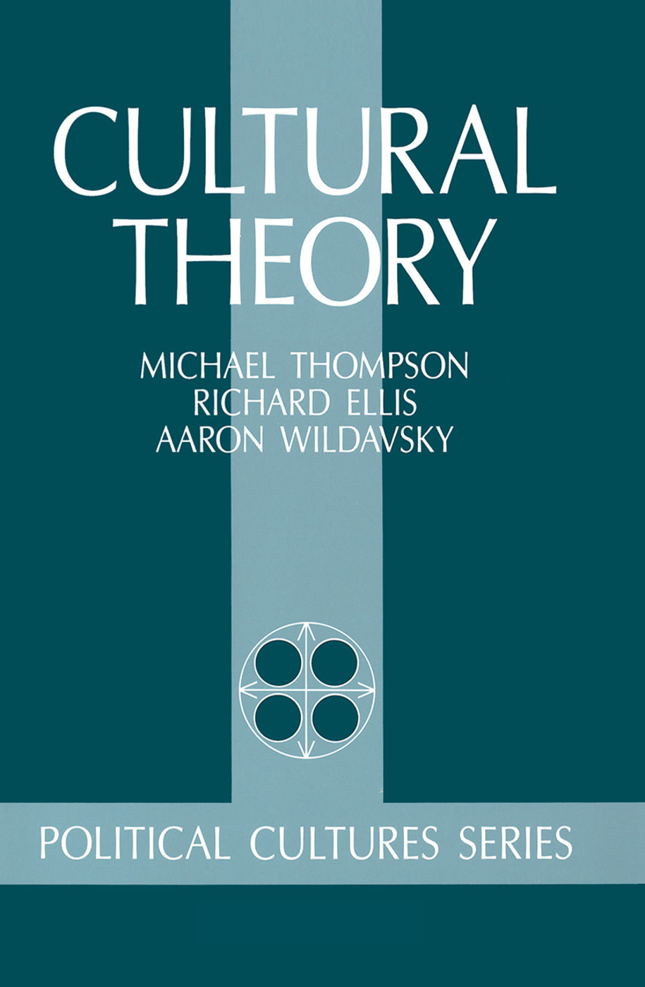 Cultural Theory: 1st Edition (Hardback) book cover