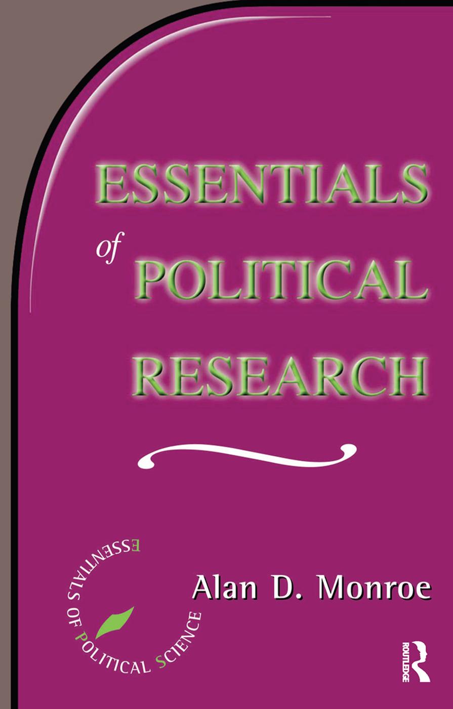 Essentials Of Political Research book cover