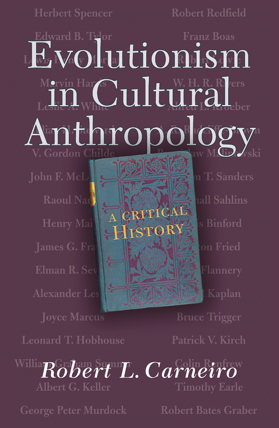 Evolutionism In Cultural Anthropology: A Critical History, 1st Edition (Hardback) book cover