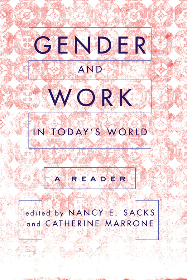 Gender And Work In Today's World: A Reader book cover