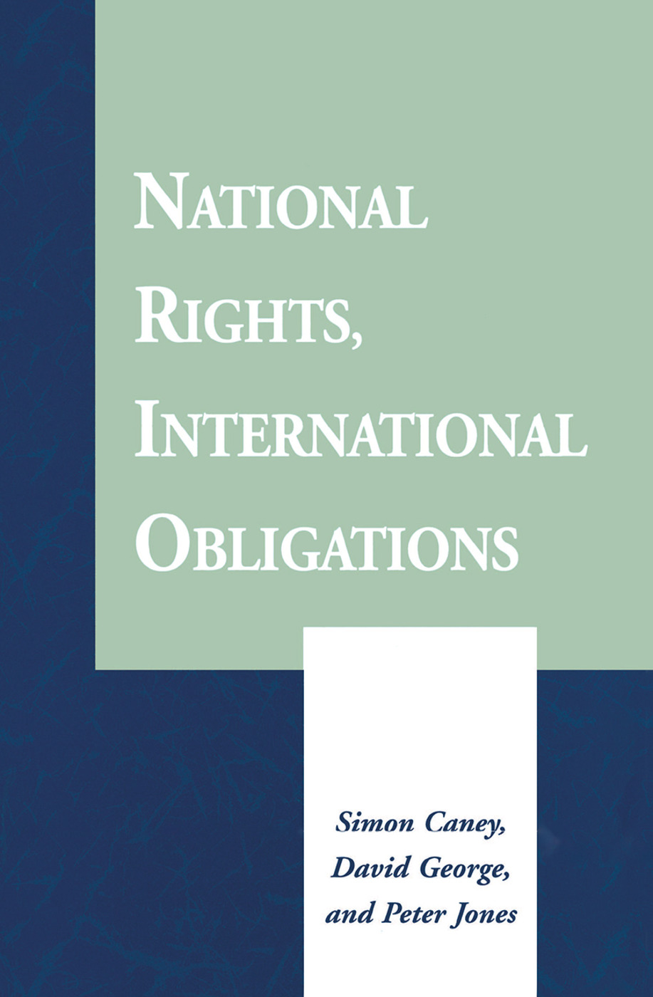 National Rights, International Obligations: 1st Edition (Hardback) book cover