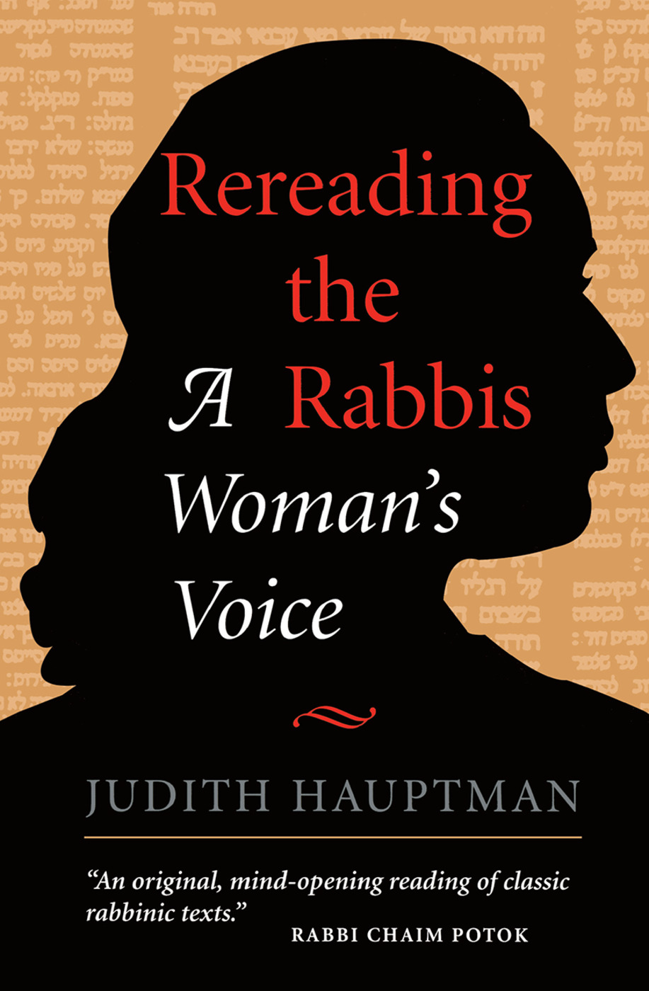 Rereading The Rabbis: A Woman's Voice book cover