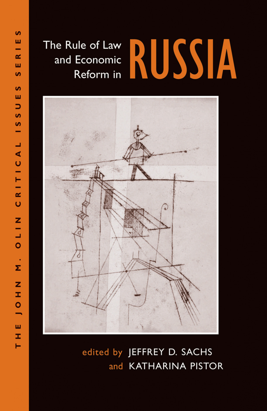 The Rule Of Law And Economic Reform In Russia: 1st Edition (Hardback) book cover