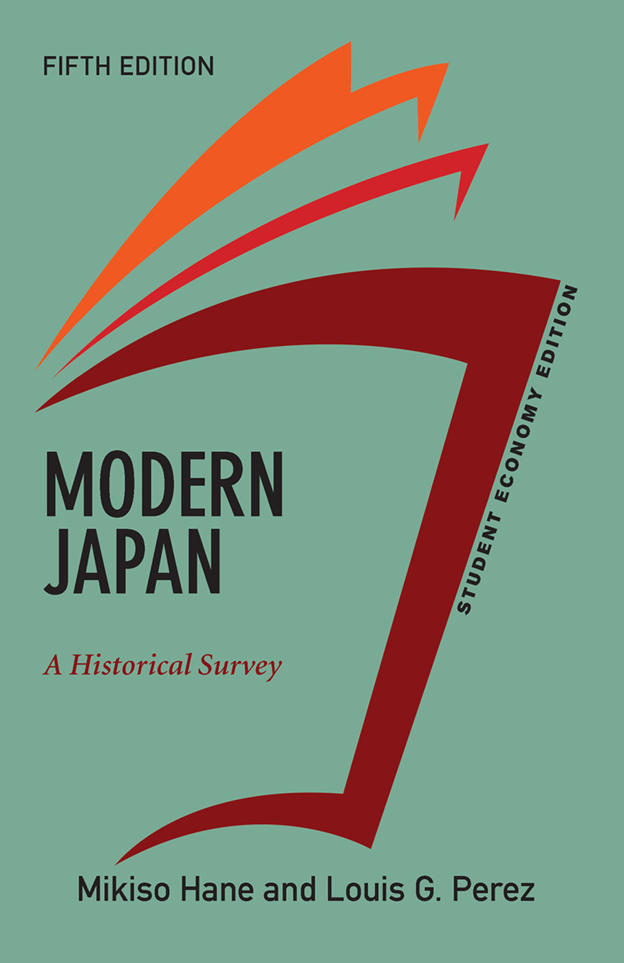 Modern Japan, Student Economy Edition: A Historical Survey, 5th Edition (Hardback) book cover