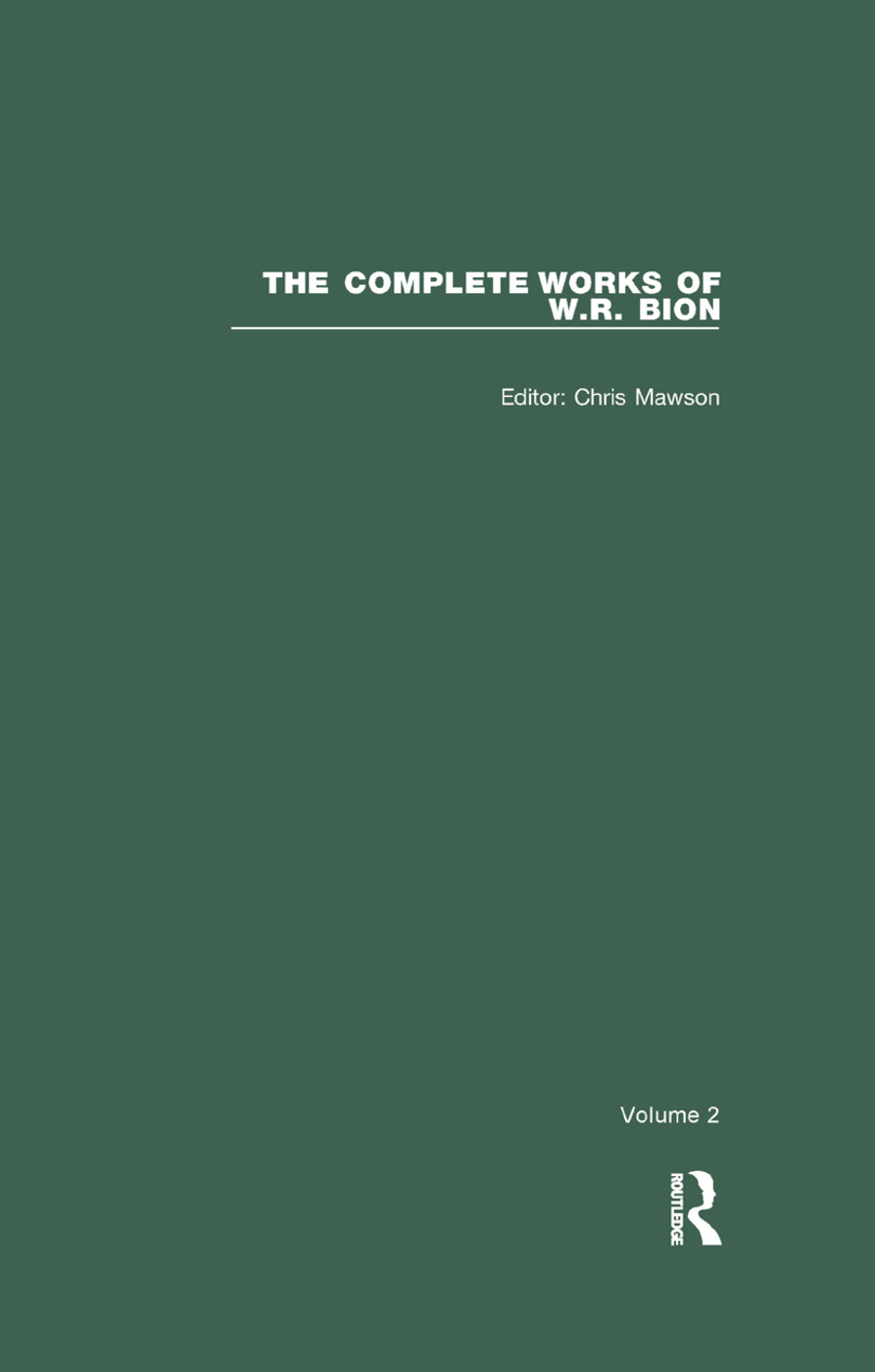 The Complete Works of W.R. Bion: Volume 2, 1st Edition (Paperback) book cover