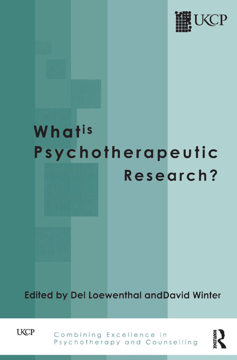 What is Psychotherapeutic Research?: 1st Edition (Hardback) book cover