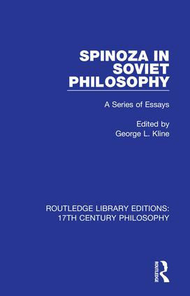 Spinoza in Soviet Philosophy: A Series of Essays book cover
