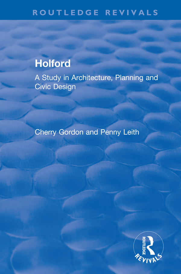 Holford: A Study in Architecture, Planning and Civic Design book cover