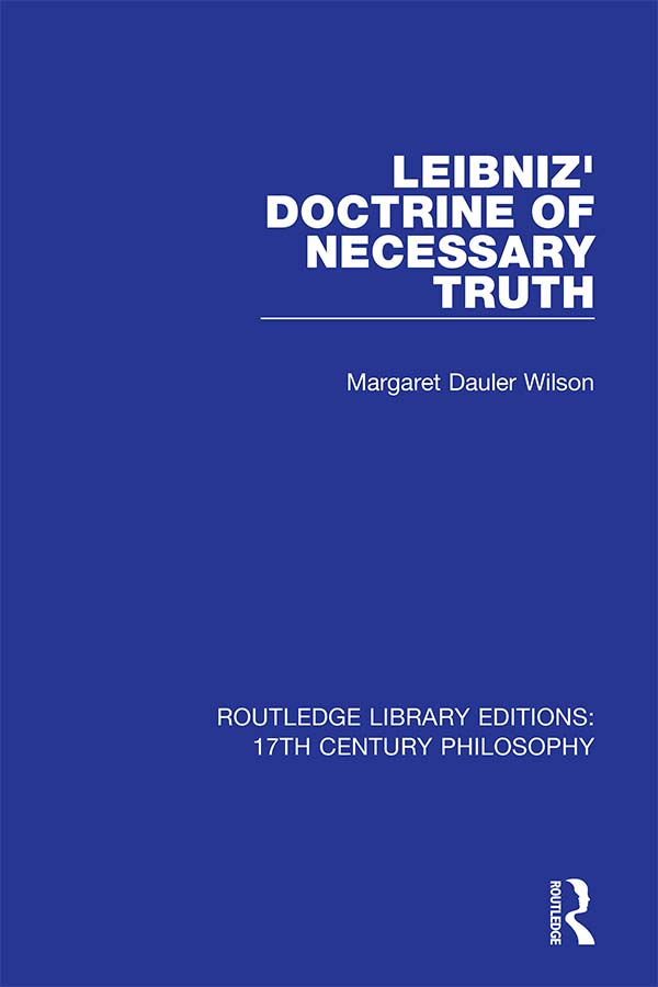 Leibniz' Doctrine of Necessary Truth book cover
