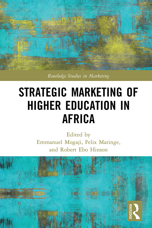 Strategic Marketing of Higher Education in Africa: 1st Edition (e-Book) book cover