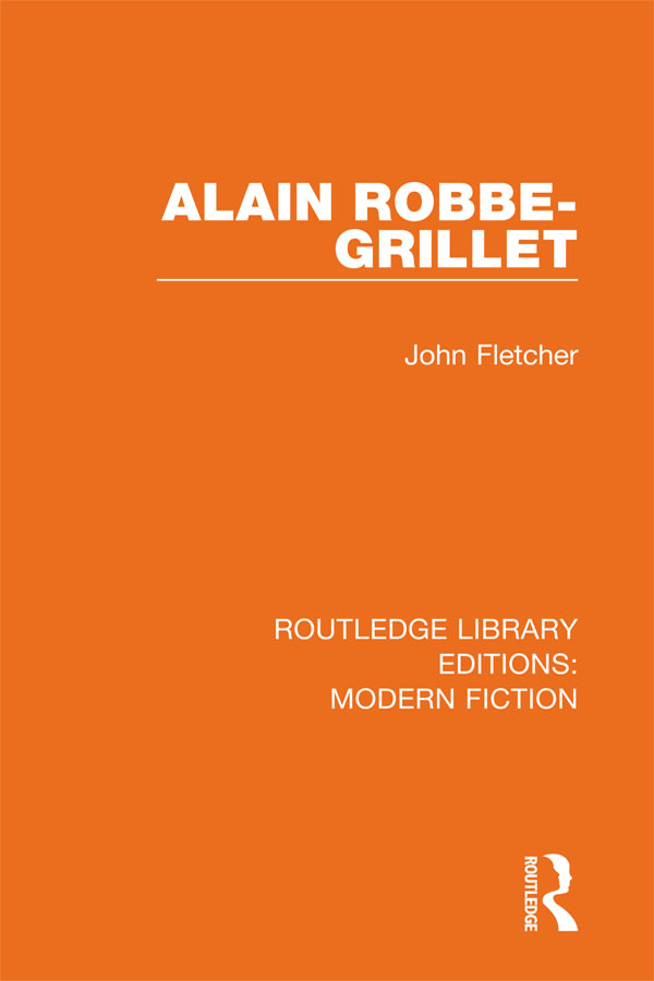 Alain Robbe-Grillet: 1st Edition (e-Book) book cover