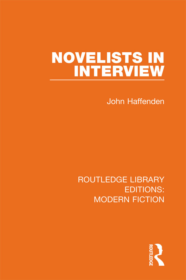 Novelists in Interview book cover