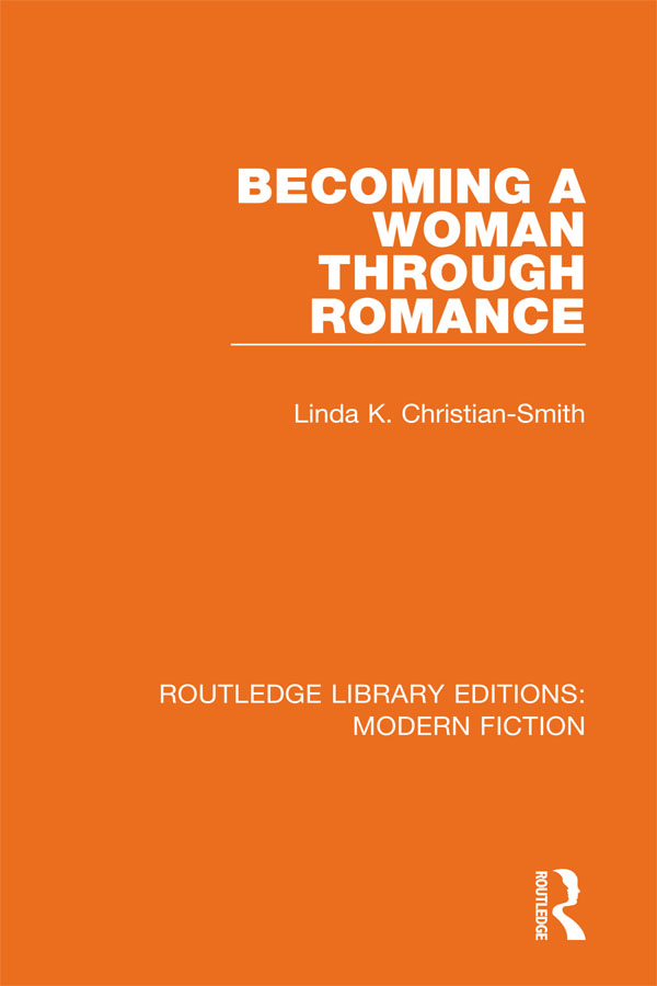 Becoming a Woman Through Romance: 1st Edition (e-Book) book cover