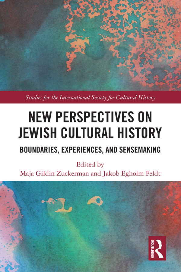 New Perspectives on Jewish Cultural History: Boundaries, Experiences, and Sensemaking book cover