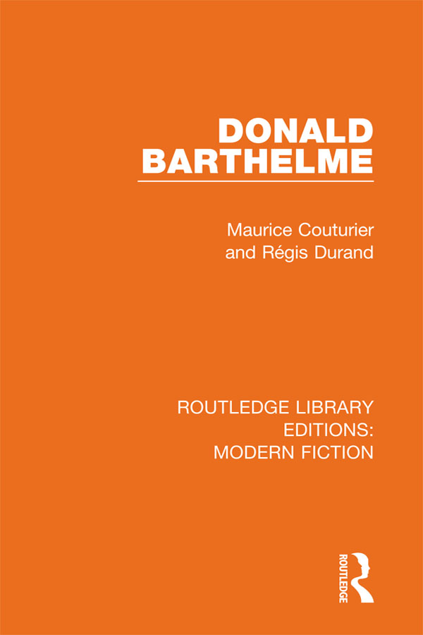 Donald Barthelme book cover