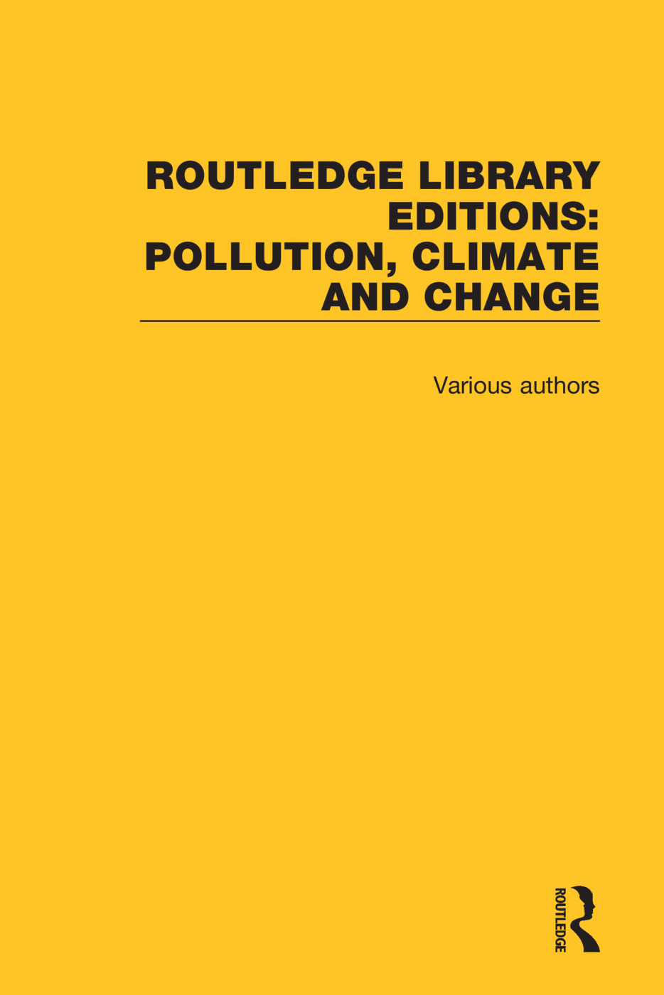 Routledge Library Editions: Pollution, Climate and Change book cover