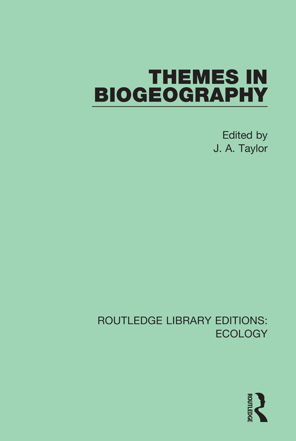 Themes in Biogeography book cover