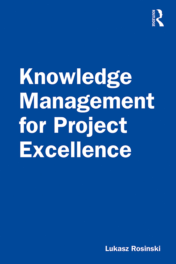 Knowledge Management for Project Excellence book cover