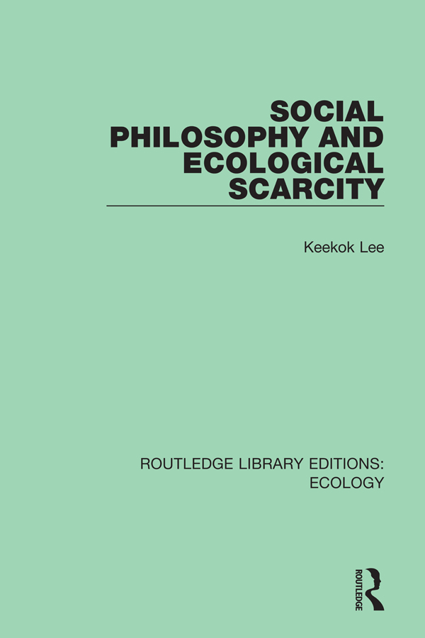 Social Philosophy and Ecological Scarcity book cover