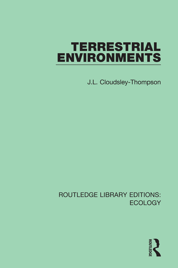 Terrestrial Environments book cover