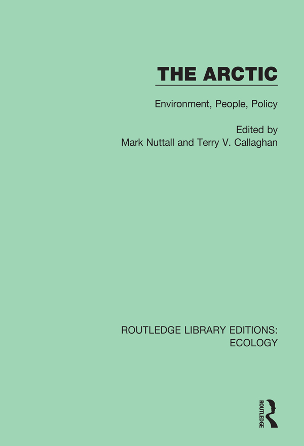 The Arctic: Environment, People, Policy, 1st Edition (e-Book) book cover