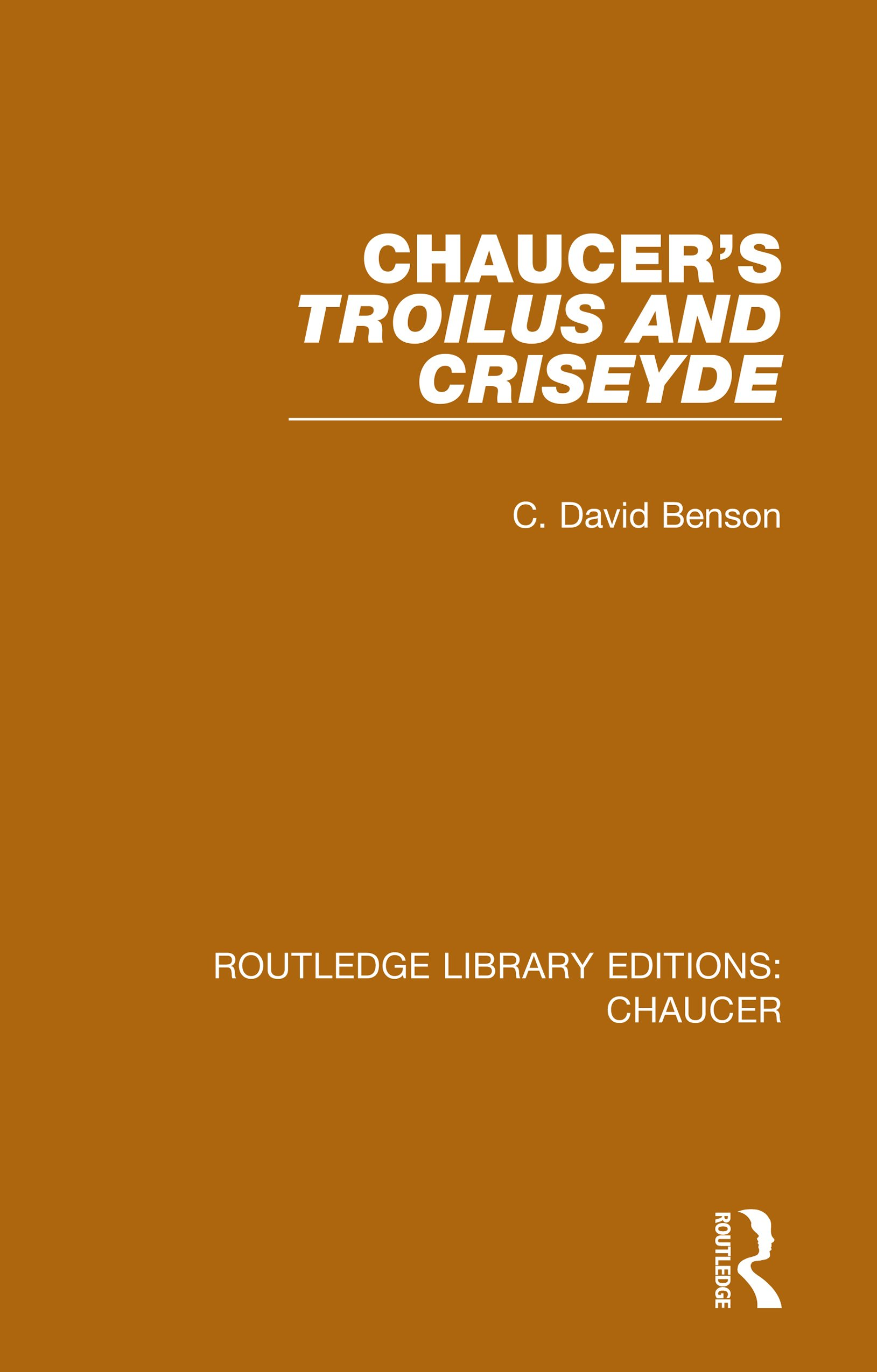 Chaucer's Troilus and Criseyde: 1st Edition (Hardback) book cover