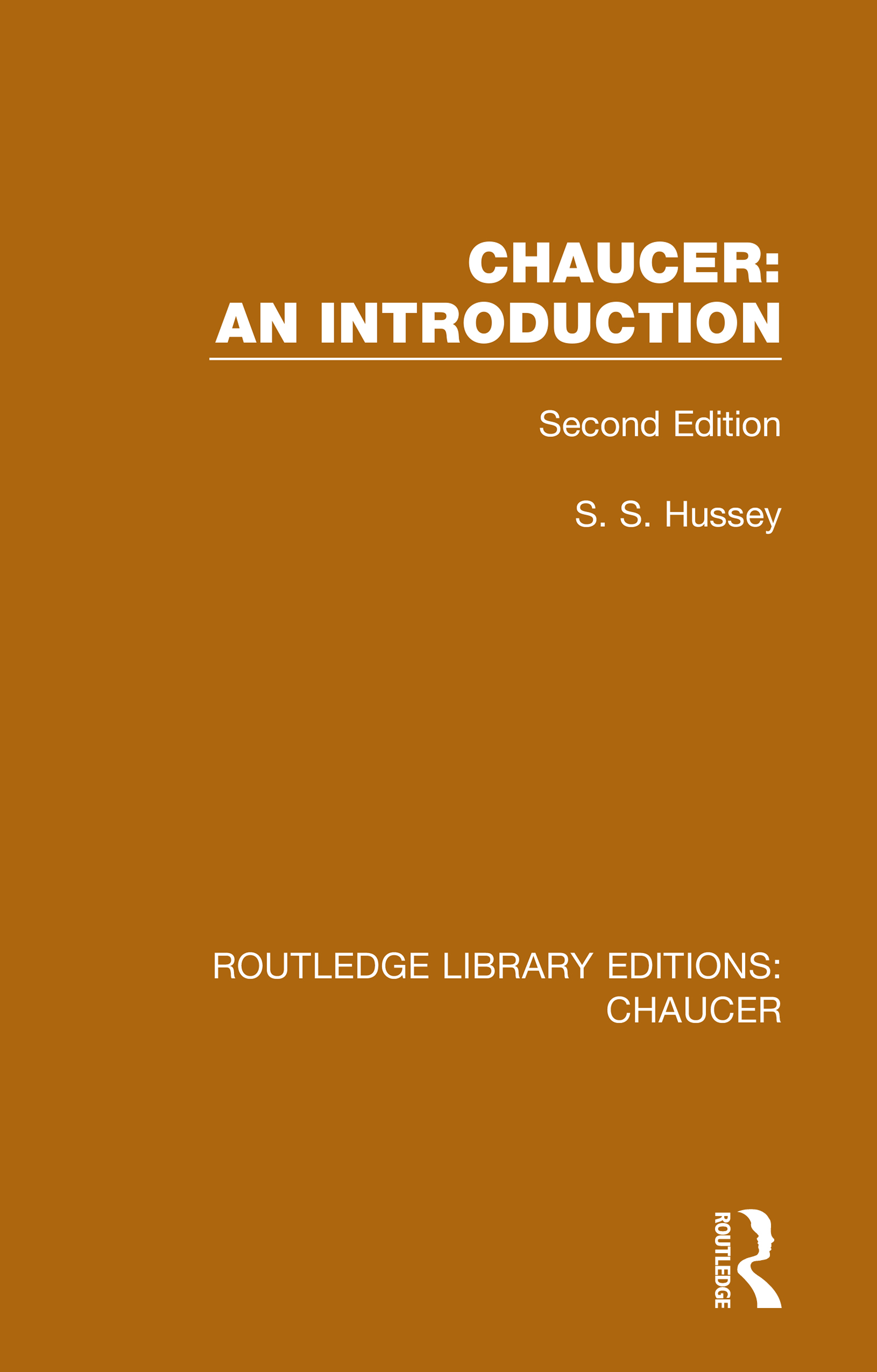 Chaucer: An Introduction: Second Edition, 1st Edition (Hardback) book cover