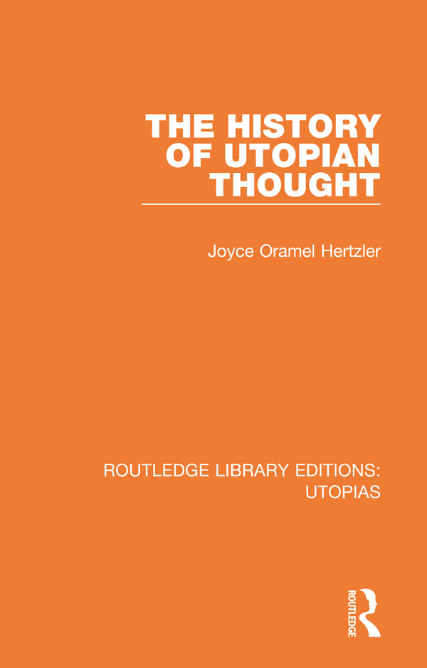The History of Utopian Thought book cover