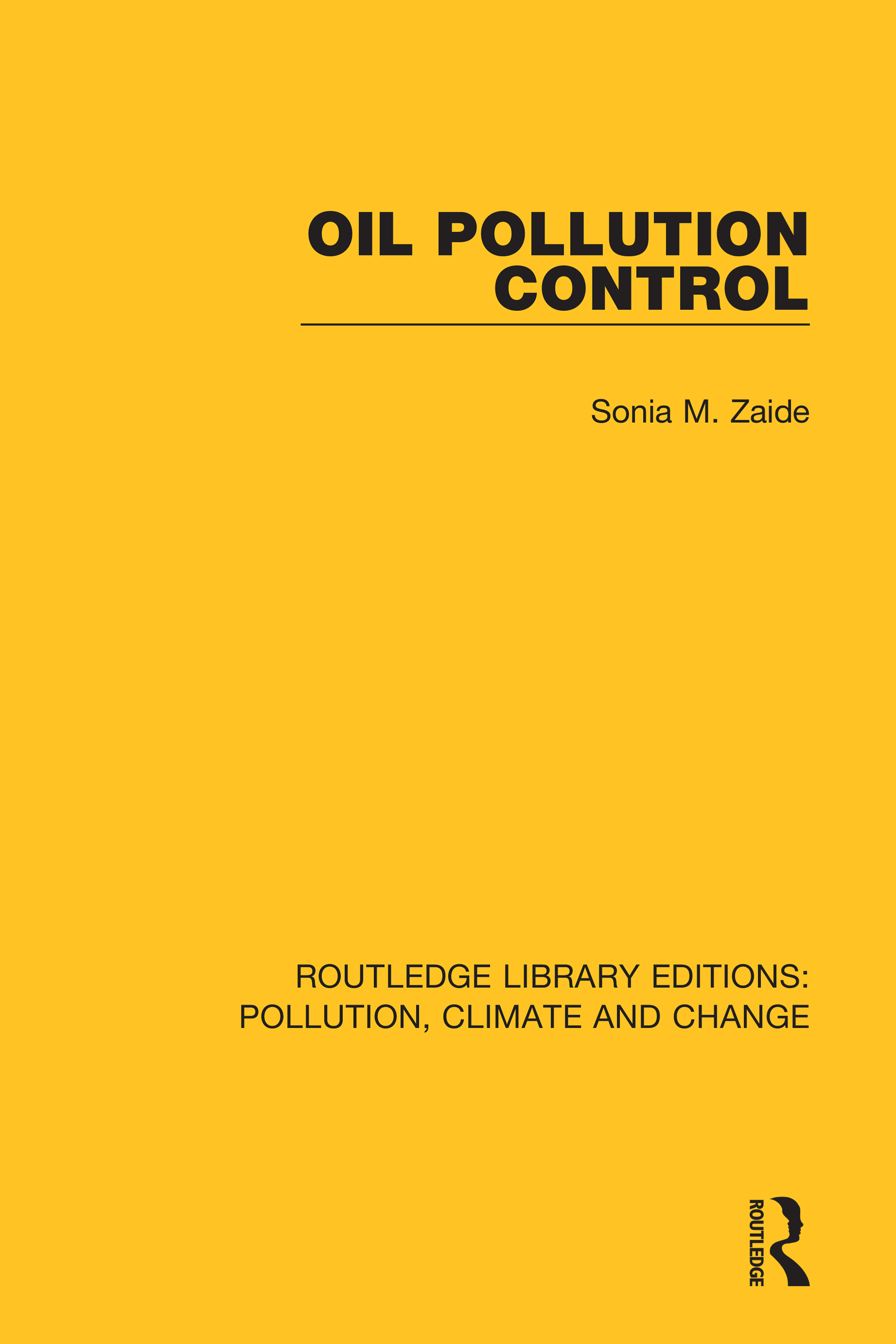 Oil Pollution Control book cover