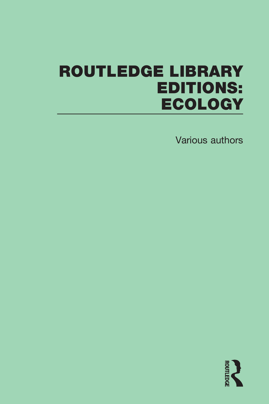 Routledge Library Editions: Ecology book cover