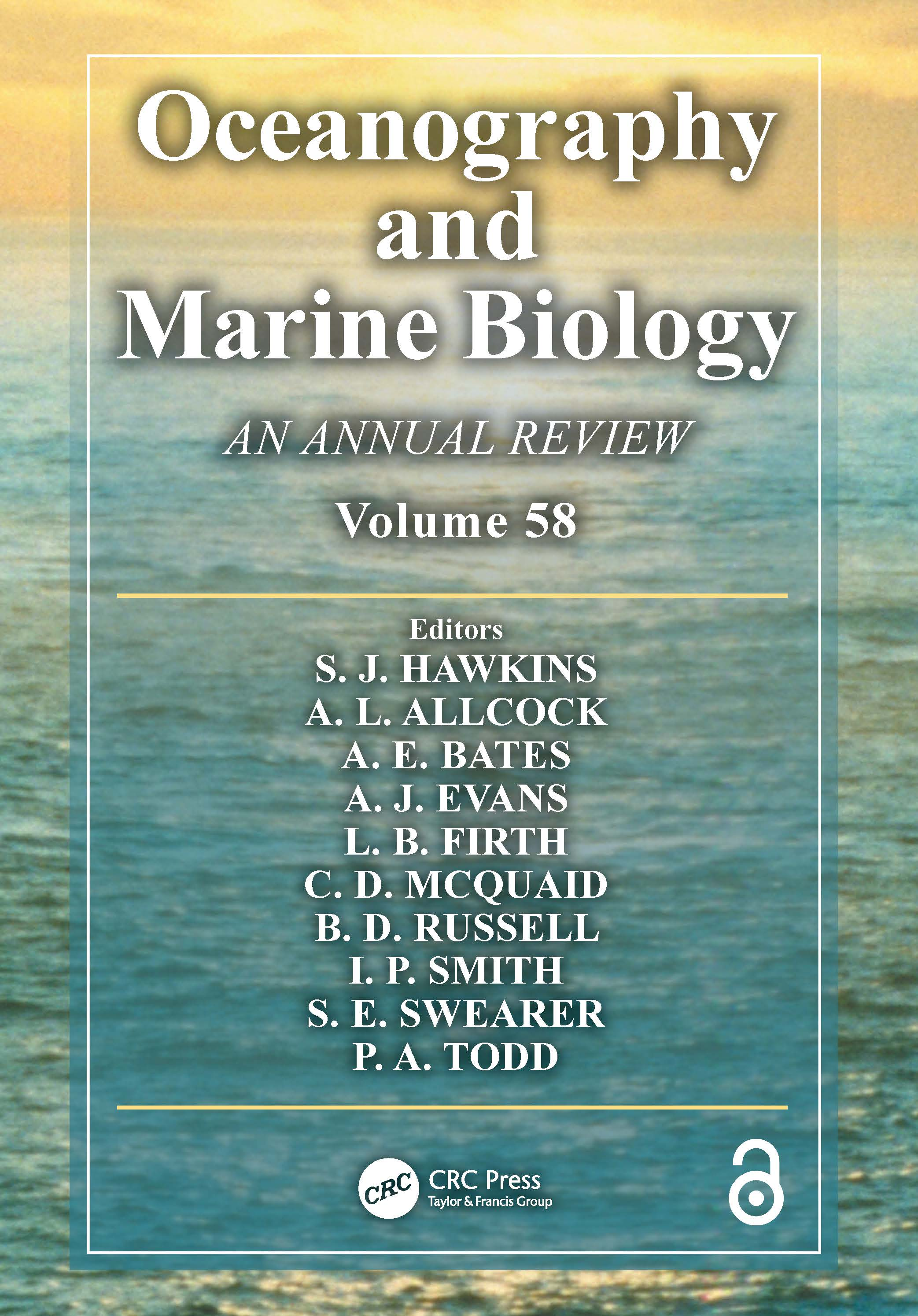 Oceanography and Marine Biology: An Annual Review, Volume 58 book cover