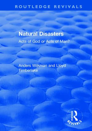 Natural Disasters: Acts of God or Acts of Man? book cover