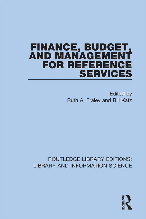 Finance, Budget, and Management for Reference Services: 1st Edition (Hardback) book cover