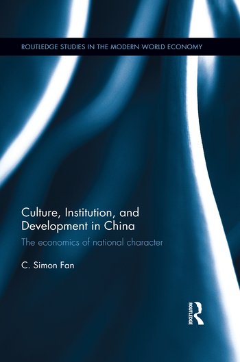 Culture, Institution, and Development in China