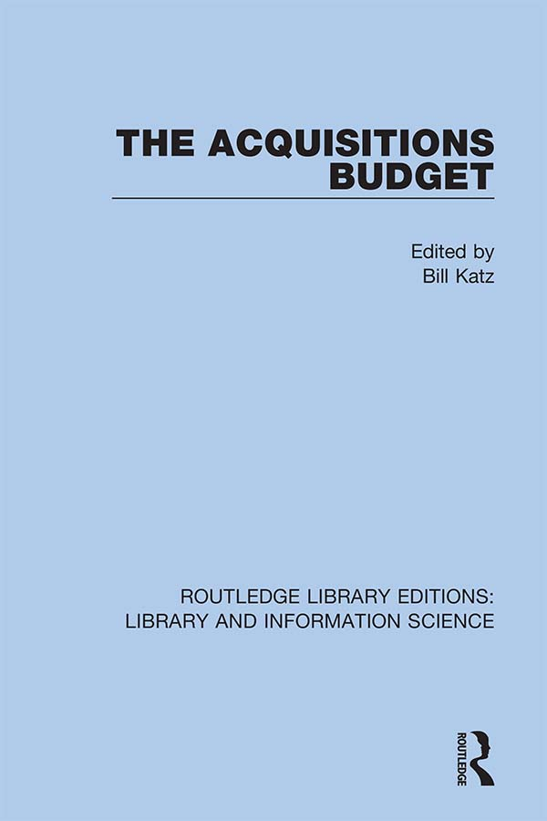 The Acquisitions Budget: 1st Edition (Hardback) book cover