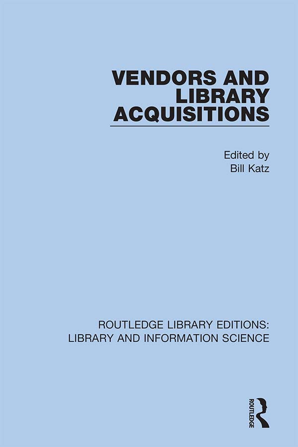 Vendors and Library Acquisitions book cover