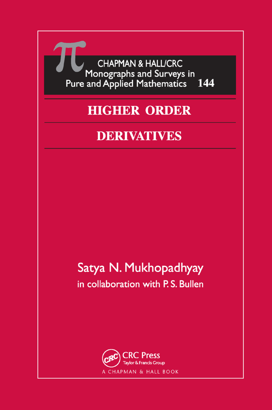 Higher Order Derivatives: 1st Edition (Paperback) book cover