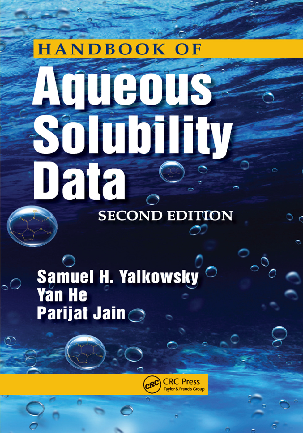 Handbook of Aqueous Solubility Data: 2nd Edition (Paperback) book cover